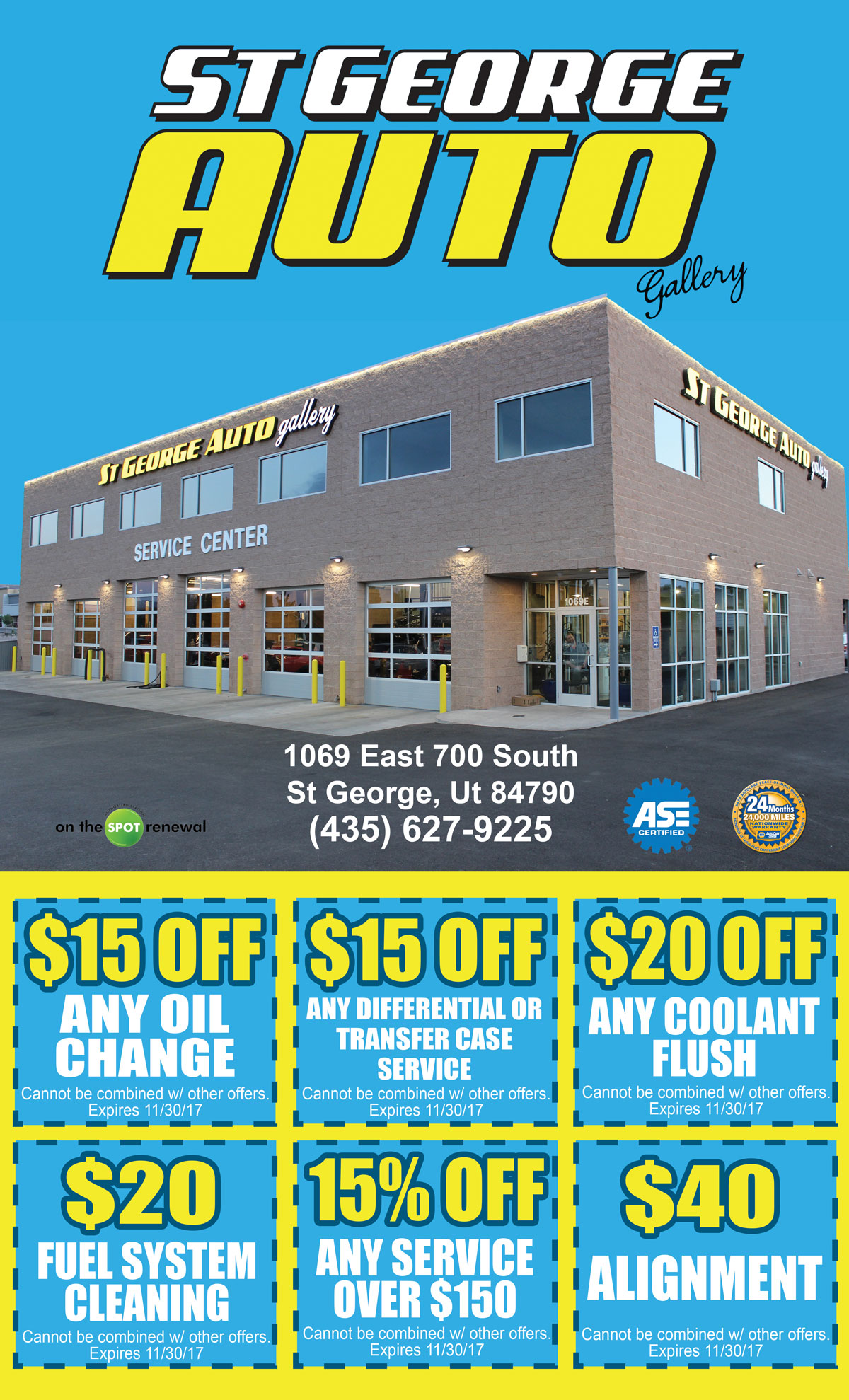 St George Auto >> St George Auto Gallery Fall Coupons 2017